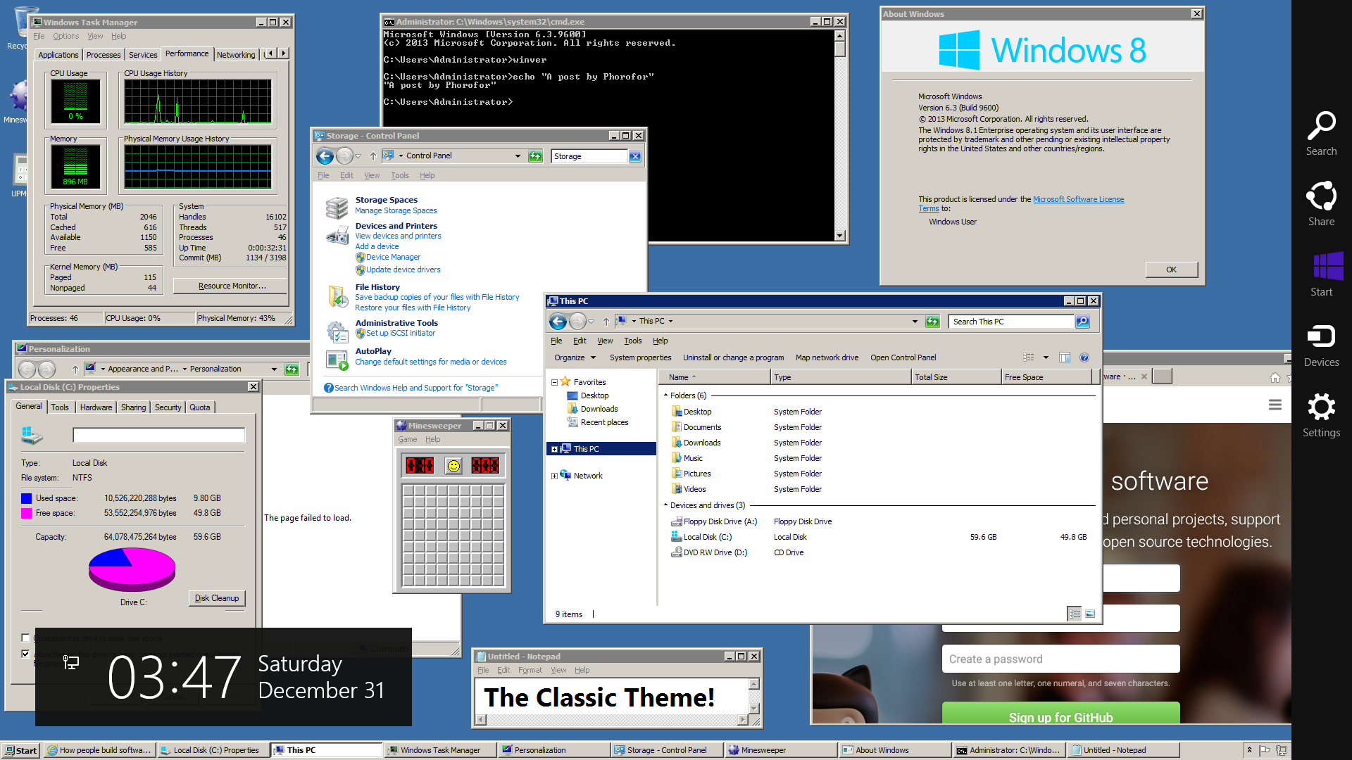 The Classic Theme in Windows 10 and 8 1 (ClassicTheme exe